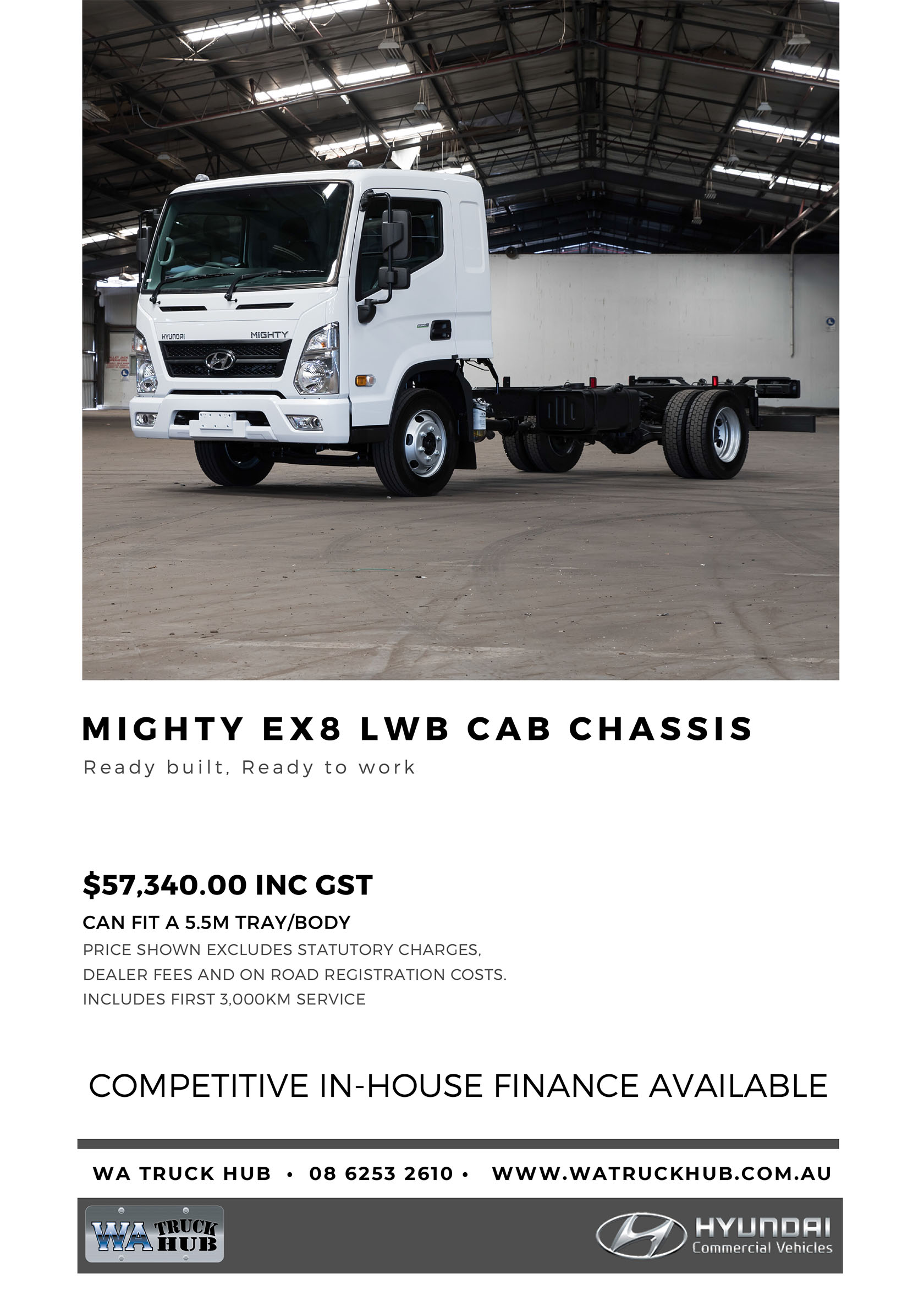 Mighty LWB Cab Chassis Model - 2020