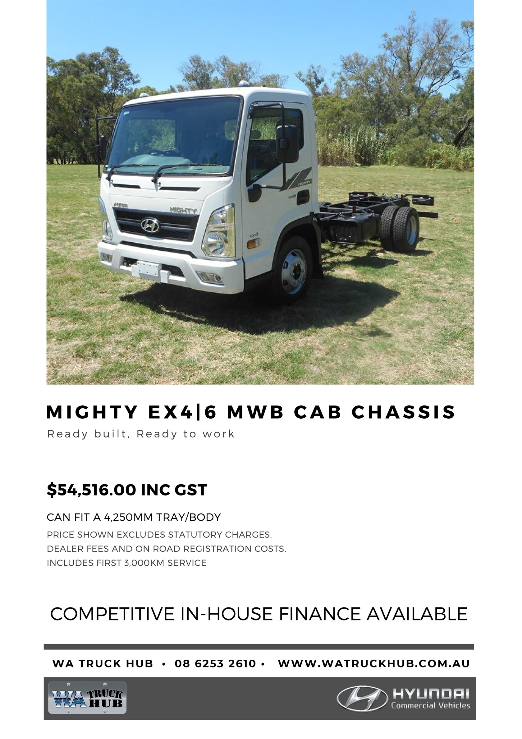 Mighty MWB Cab Chassis Model - 2020