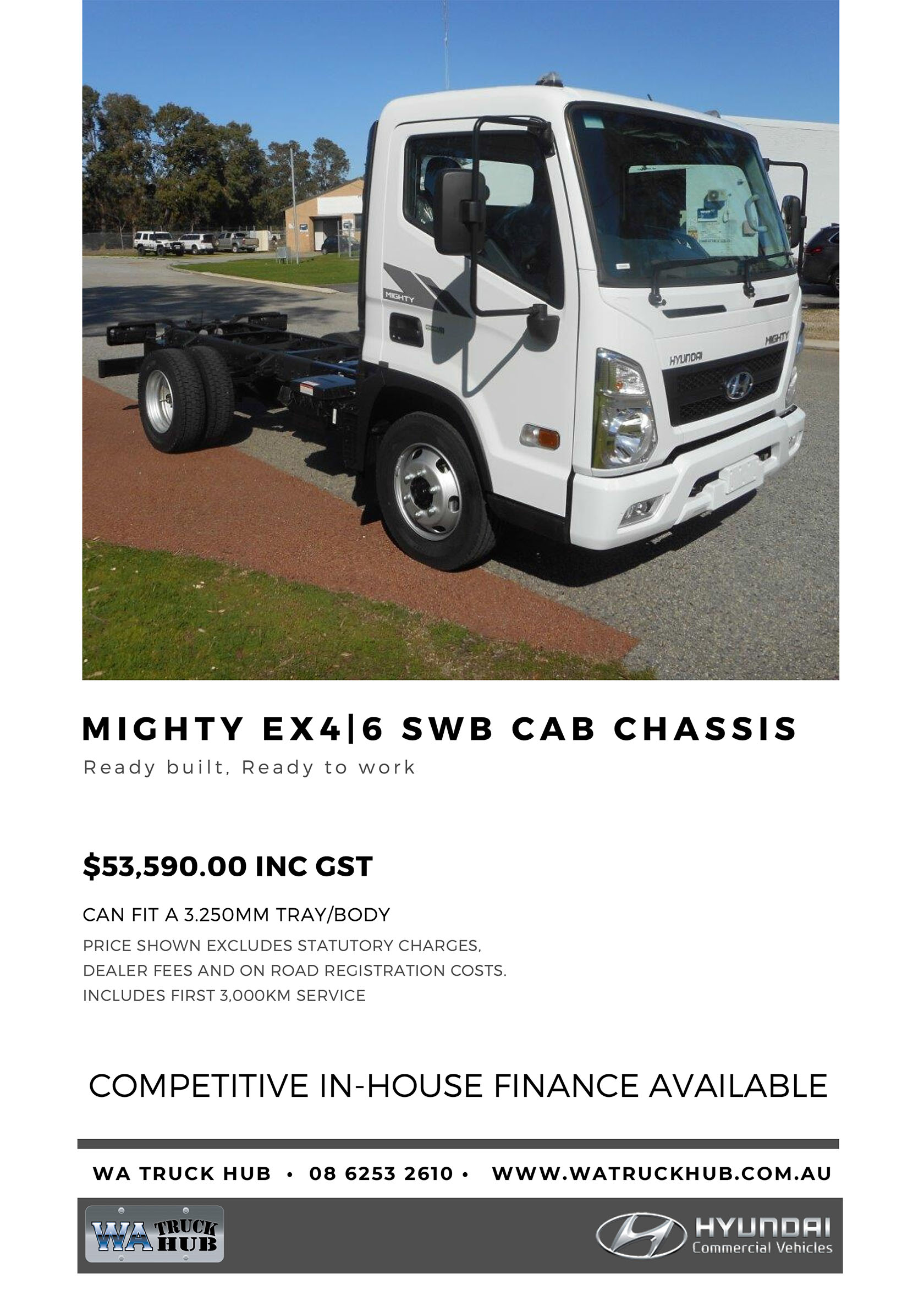 Mighty SWB Cab Chassis Model - 2020