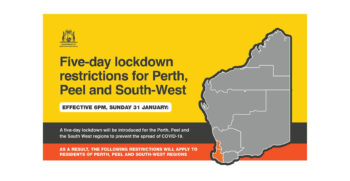 5 Day Lockdown Restrictions for Perth, Peel and South West